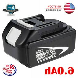 6.0Ah LITHIUM-ION FOR MAKITA 18V LXT BL1860 BATTERY PACK BL1