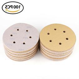 6 inch 60 Grit Sanding Discs Orbital Sander Sandpaper Hook a