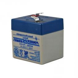 6 Volt 1 Ah Sealed Lead Acid Rechargeable Battery - F1 Termi