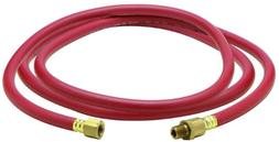 """Amflo 25L-60BD Red 300 PSI Rubber Lead-in Air Hose 1/4"""" x 60"""