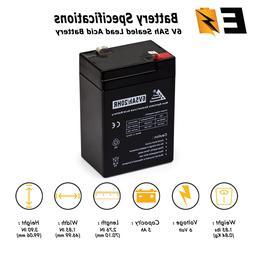 ExpertBattery 6V 5Ah 6 Volt 5 Amp/Hr Rechargeable Sealed Lea