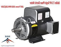 Baldor 7.5 Hp Electric Motor 3450 RPM 184 T Frame 1 Ph Singl