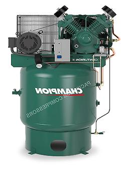 7.5 HP TWO STAGE CAST IRON V-4 CYLINDER AIR COMPRESSOR 25 CF