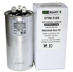 TradePro 80/5 MFD 440 or 370 Volt Round Run Capacitor Replac