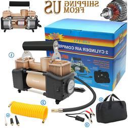 HEAVY DUTY Portable Air Compressor Car Tire Pump Inflator Au