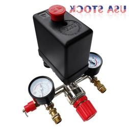 90-120 PSI Air Compressor Valve Gauges Regulator Pump Pressu