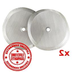 Universal Replacement French Press Filter: 4 Inch Stainless