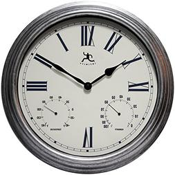"Infinity Instruments Silo 16"" Indoor and Outdoor Wall Clock"