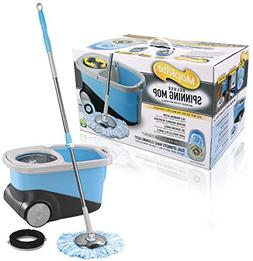 MopRite Deluxe Spin Mop and Bucket System with Wheels