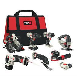 Porter-Cable 20V 8-Tool Combo Kit PCCK6118 New