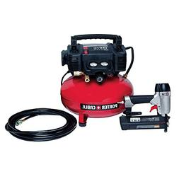 Porter-Cable - 6-Gal. Portable Electric Air Compressor and 1