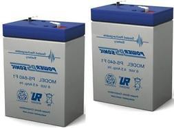 Power-Sonic 2 Pack - BATTERY 6V 6 VOLT SLA VRLA RECHARGEABLE