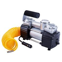 TIREWELL 12V Tire Inflator - Heavy Duty Double Cylinders Dir