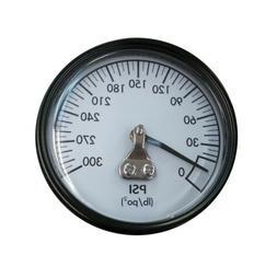 """A18885 DeWalt Air Compressor Gauge 2"""" 300psi 1/4"""" Back Mount"""