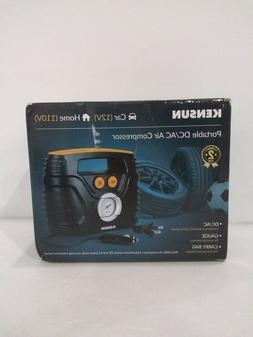 Kensun AC/DC Tire Inflator Portable Air Compressor Pump for