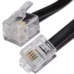 2m ADSL Broadband Modem Cable RJ11 to RJ11 Black