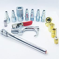 """Air Tool And Accessory Kit,COOLOGIN 1/4"""" NPT 14 Piece Air Co"""