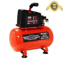 Speedway Air Compressor 2-Gallon Oil-Free Red Stable Design