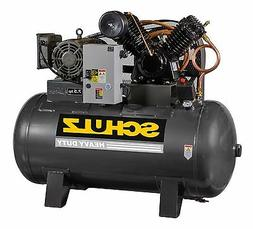 SCHULZ AIR COMPRESSOR - 7.5HP 1 PHASE HORIZONTAL 80 GAL TANK