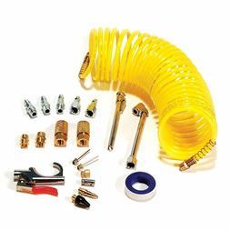 Air Compressor Accessory Kit 20 Pcs Tool Set 25 Ft Recoil Ho