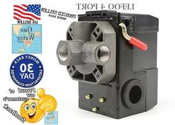 Air compressor control switch 95-125 psi FOUR 4 PORT Univers
