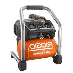 RIDGID Air Compressor Cordless Brushless 1-Gal.18-Volt Oil-F