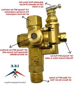 Air Compressor Pilot check valve unloader combination gas di