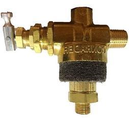 Air compressor pilot unloader valve with muffler Vent Rolair