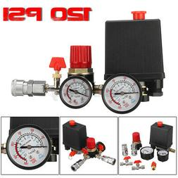 Air Compressor Pressure Switch Control Valve Regulator Gauge