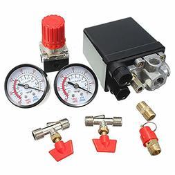 Hitommy Air Compressor Pressure Valve 180PSI Gauges Regulato