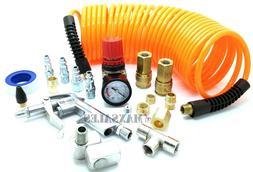 Air Compressor Tire Hose Kit Inflate 20 Pcs Accessory Piece