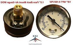 "New air pressure gauge air compressor hydraulic 1.5"" face 0-"