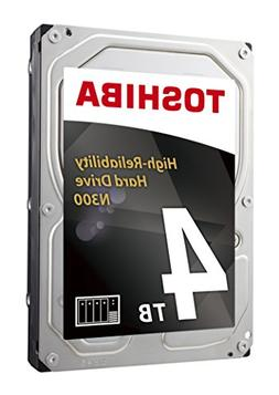 Toshiba N300 4TB NAS 3.5-Inch Internal Hard Drive- SATA 6 Gb