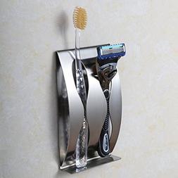 K-Steel Bathroom Stainless Steel Wall Mounted Toothbrush Hol