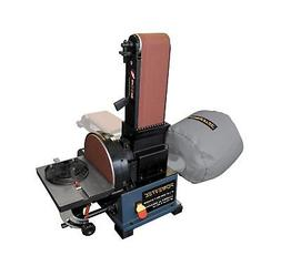 POWERTEC BD4800 Woodworking Belt Disc Sander w/ Built-In Dus