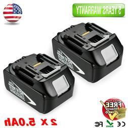 New Makita BL1850B 18V 5.0Ah Lithium Ion Battery 2 Batteries