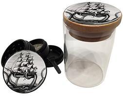 Swagstr Grinders Kraken Grinder and Glass Jar Premium Combo