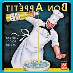 Bon Appetit: Vintage Food Posters 2018 Wall Calendar
