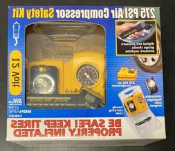 Bonaire Portable 275 PSI Air Compressor Safety Kit 12V Car C