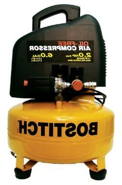 BOSTITCH CAP2060P 10.5 Amp 2-Horsepower 6-Gallon Oil-Free Pa