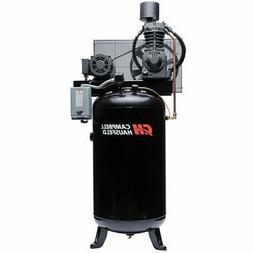 Campbell Hausfeld Air Compressor, 80-Gallon Vertical Two-Sta