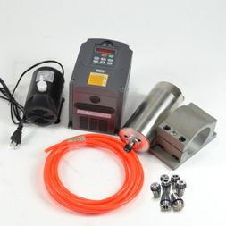 CNC SPINDLE KIT 1.5KW 110V WATER COOLED SPINDLE MOTOR+INVERT
