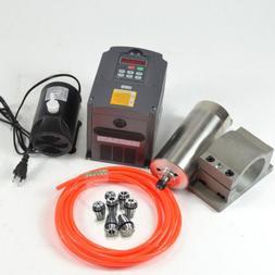 CNC SPINDLE KIT 1.5KW 110V WATER COOLED SPINDLE MOTOR+INVERT