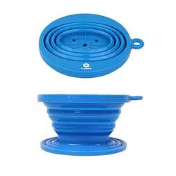 Collapsible Silicone Coffee Dripper, Tea Dripper, Over the C