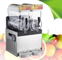 110V Commercial 2Tank Frozen Drink Slush Slushy Making Machi