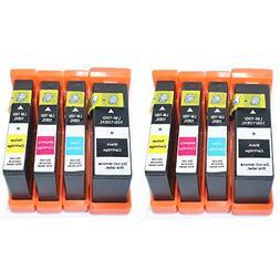 HOTCOLOR 8 PK New Compatible Lexmark 100XL Printer Ink Cartr