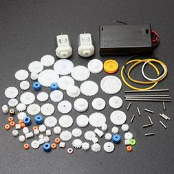 ELEDIY DC Motor and Plastic Gear Kit Motor Gear Sets For DIY