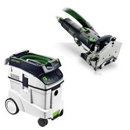 Festool DF 500 Q Domino with T-LOC + CT 48 Dust Extractor Pa