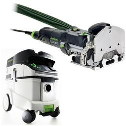 Festool DF 500 Q Domino with T-LOC + CT 36 Dust Extractor Pa