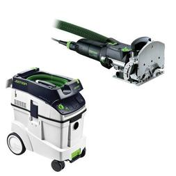 Festool DF 500 Q Domino Set with T-LOC + CT 48 Dust Extracto